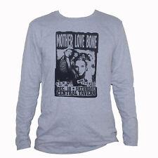 Mother Love Bone Alternative Metal Grunge Music T shirt Long Sleeve Grey Tee