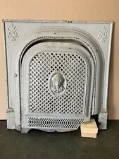 Antique Painted Cast Iron Fireplace Summer Cover Vintage Victorian Pc 1800s?