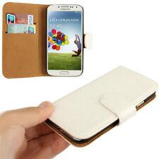 Book Tasche Croco Style für Samsung i9500 Galaxy S4 in weiß Hülle Case Cover