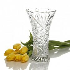 "Gibson Home jewelite Clear Etched Glass Flower Vase - 9.25"" H - Dishwasher Safe"