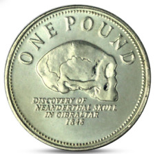 UNCIRCULATED 2005 GIBRALTAR £1 One Pound Discovery Neanderthal SKULL 1848 Coin