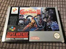 Super Castlevania 4 Iv Super Nintendo SNES Game! Complete! Look In The Shop!
