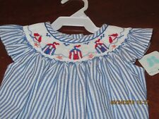 Vive La fete Girl smocked bubble Sun and Sand  6mths NWT Just arrived Gorgeous