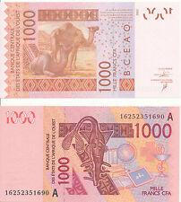 West African St./Ivory Coast - 1000 FRANCS 2003 (2016) Unc Pick New
