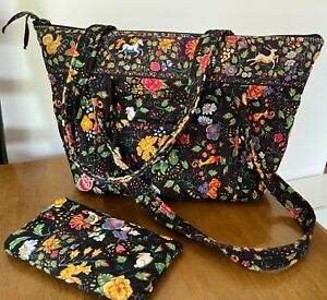 VERA BRADLEY * TAVERN ON THE GREEN * PADDY TOTE BAG AND GLASSES CASE
