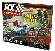 SCX Max Speed Wireless Throttle 1/43 Slot Car Race Set Porsche UPS vs. HP 10166