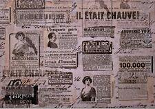 """4 Sets de table """"Journal vintage"""" par www.laboutiquedecatlyna.etsy.com"""
