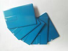 Lot 10 32GB Credit Card USB Flash Drive Blue DIY 32G Memory Stick Wholesale Bulk