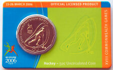 2006 XVIII Melbourne Commonwealth Games 50 Cent Coin - Hockey