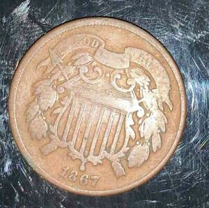 #266 UNITED STATES - Two Cent Coin - 1867