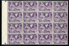Burma KGVI 1943 MILY ADMN 3a dull violet SG43 MNH margined block of 16