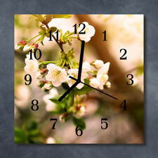 Glass Wall Clock Kitchen Clocks 30x30 cm silent Nature Multi-Coloured