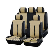 PREMIUM CUIR/simili Housse de siège voiture noir-beige Kit beaucoup véhicules