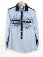 Desigual Herren Regular Fit Gestreift Freizeithemd Größe M AFZ370