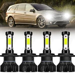 For Mercedes-Benz R350 2006 2007 2008-2010 6000K Combo LED Headlight Bulbs Kit