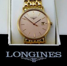 Longines Gold Plated Case Round Wristwatches