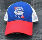 PBR Pabst Blue Ribbon Snap Back Trucker Hat Red White Blue