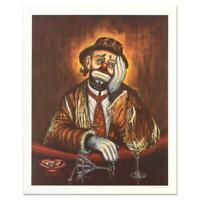 """George Crionas (1925-2004), """"Double Martini"""" Limited Edition Lithograph.signed"""