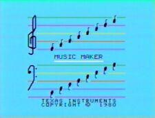 TI-99/4A FAMILY FUN CARTRIDGE MUSIC MAKER &  MUSIC SKILL DISK