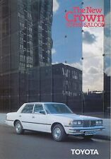 Toyota Crown 2800 Super Saloon 1980-81 original UK Sales Brochure No. 90209