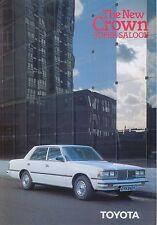 Toyota Crown 2800 Super Saloon 1980-81 original UK Sales Brochure No. 90209