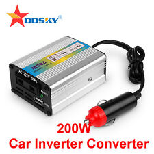 200W 12V DC to AC 220V Car Auto Power Inverter Converter Adapter Adaptor USB ES