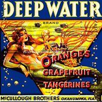 Okanumpka Florida Deep Water Mermaid Orange Fruit Crate Label Art Print