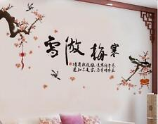 Chinese plum blossom Home Bedroom Decor Removable Wall Stickers Decal Decoration