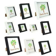 Box Picture Frame 3D Gap Shadow Photo Display Standing Hanging - Various Sizes