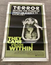 THEY CAME FROM WITHIN ORIGINAL 27X41 MOVIE POSTER 1976 DAVID CRONENBERG