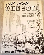 All Hail Oregon Vintage Sheet Music Rare 1958 Centennial Edition Marie Obenchain