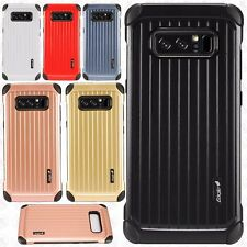 For Samsung Galaxy Note 8 Rubber IMPACT CO HYBRID Case Skin Cover +Screen Guard