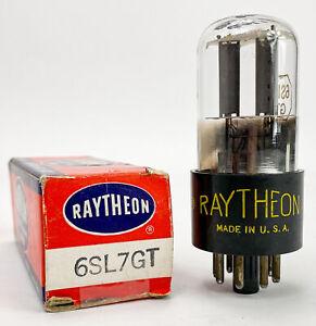 Raytheon 6SL7GT Smooth Grey Plate Bottom Foil D Getter Balanced Vacuum Tube