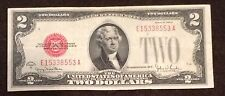 1928 Two Dollar Bill Red Seal Note Randomly Hand Picked VG - Fine FREE SHIPPING!