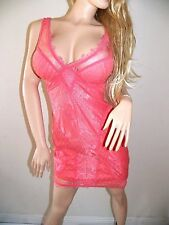 NWT bebe pink Lace Overlay Dress XS 0 2 V Neck lingerie ivory Bustier top club