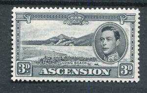 Ascension KGVI 1938-53 3d black & grey p13.5 SG42a MNH