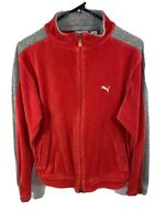 Mens Track Jacket - Puma | Size: Large | Red Faux Suede Activewear Outerwear Top