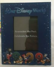 """Disney Parks 1999 Picture Frame 3"""" x 4"""" Photo Mickey Mouse Pluto Donald Duck"""