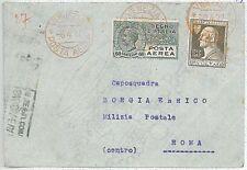 ITALIA storia postale - PRIMI VOLI - cat  SASSONE 88: VENEZIA / ROMA