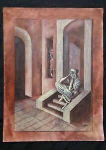 Remedios Varo set of 4 drawings on cartonboard, vintage, rare,