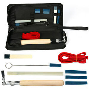 Professional Piano Tuning Tuner Kit 9 tools set Lever Wrench Hammer Mute w/ case