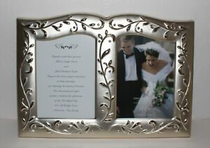 New Lenox American by Design Opal Innocence Wedding Photo Invitation Frame 5x7