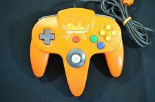 Official Nintendo 64 Pikachu Orange Yellow N64 Controller Japan TIGHT STICK