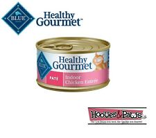 Blue Buffalo Healthy Gourmet Wet Canned Cat Food Adult Indoor Chicken Pate 3oz