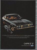 1976 MERCURY CAPRI II advertisement, black Capri II S ad, Ford Lincoln Mercury,