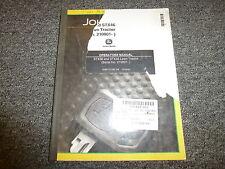 John Deere STX38 & STX46 Lawn Tractor Owner Operator Manual User Guide OMM121093