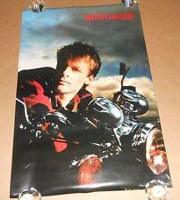 Bryan Adams (Motorcycle) Vintage Poster 1985 Original 33x22