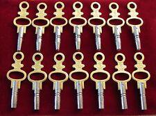 Taschenuhr schlüsseln set von 14 Stück Schlüssel fur taschenuhr und Spindeluhr