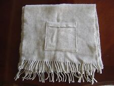 Vintage Expolana Textilproduktion Ab Large Wool Shawl With Pockets Made Sweden