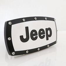 Jeep Black Trim Chrome Billet w/ Allen Bolts Tow Hitch Cover